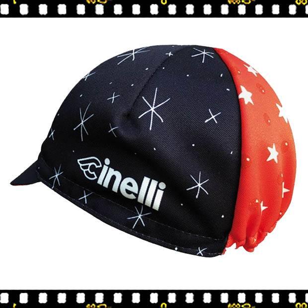 cinelli sergio mora cosmic riders fekete bringás sapka hátulról