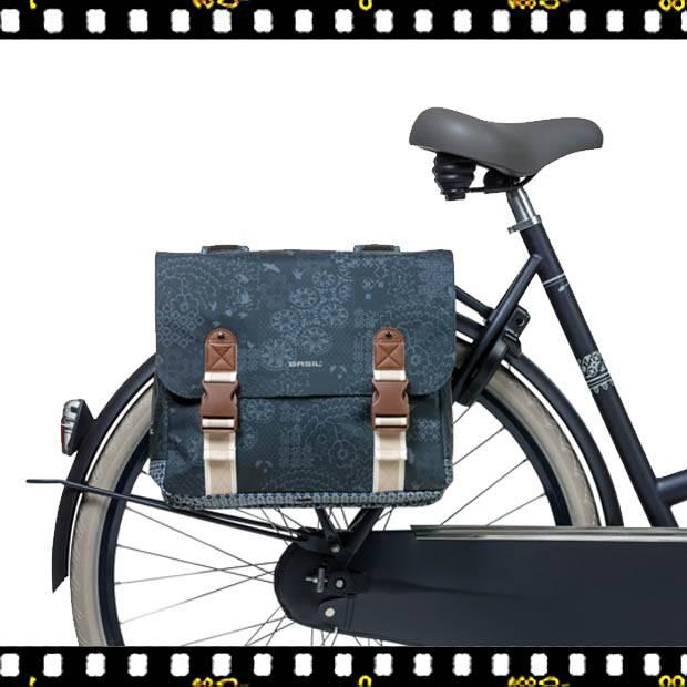 basil boheme dupla bicikli táska kék biciklin