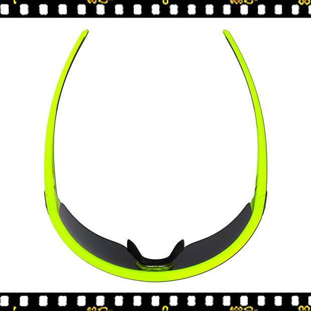 bbb impulse sárga biciklis szemüveg felül