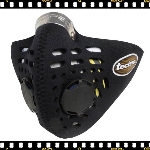 respro techno fekete kerékpáros maszk