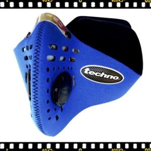 respro techno kék kerékpáros maszk szűrővel