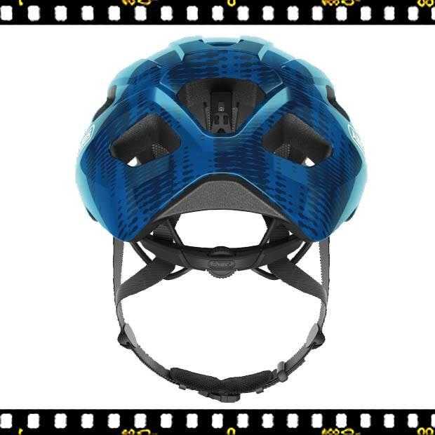 abus macator kék bringás bukósisak hátul