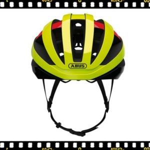 abus viantor neon sárga kerékpáros bukósisak elöl
