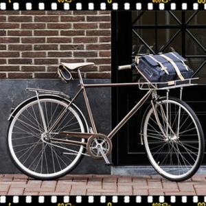 basil portland ezüst színű első bicikli kosár kerékpáron