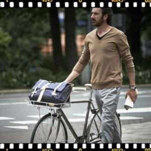 basil portland első bicikli kosár használatban