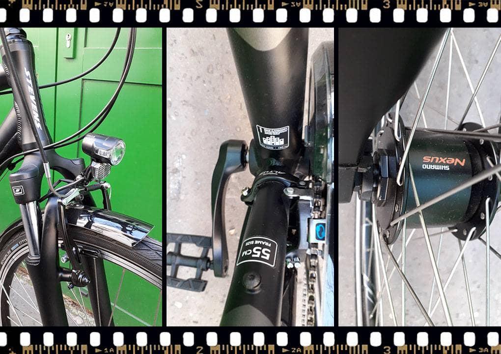 stevens albis városi férfi kerékpár vázméret