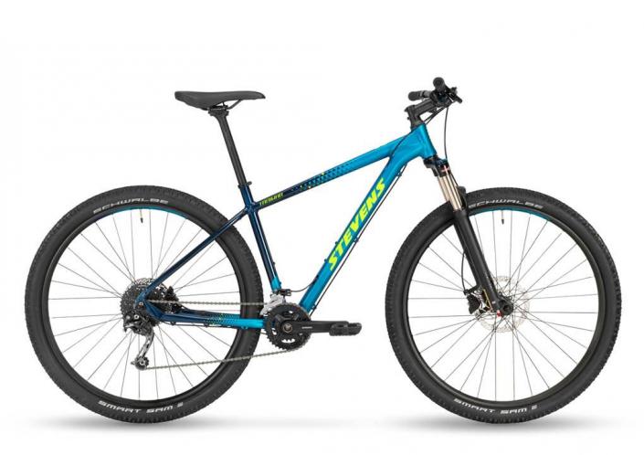 stevens taniwha mtb kék kerékpár