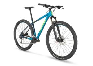 stevens taniwha mtb kék kerékpár elöl