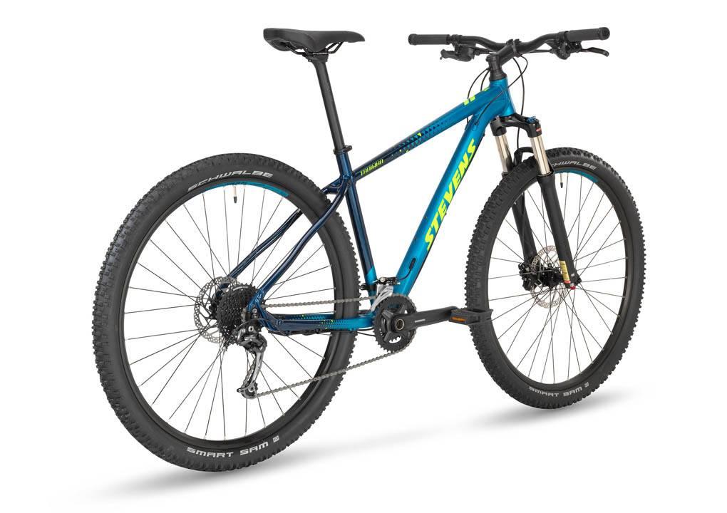 stevens taniwha mtb kék kerékpár hátul