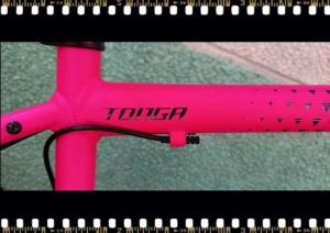 stevens tonga pink mtb kerékpár váz