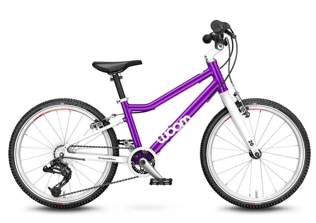 woom lila 20-as méretű gyerek bicikli