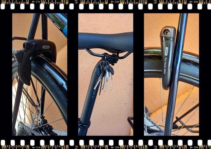 stevens lavena elektromos férfi kerékpár abus lakattal