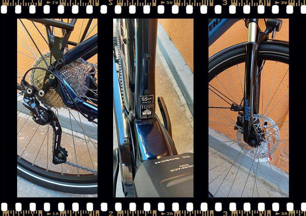 stevens lavena elektromos 55-ös méretű férfi kerékpár