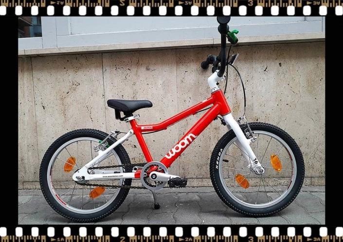 woom 3 piros 16-os alu vázas gyerek bicikli