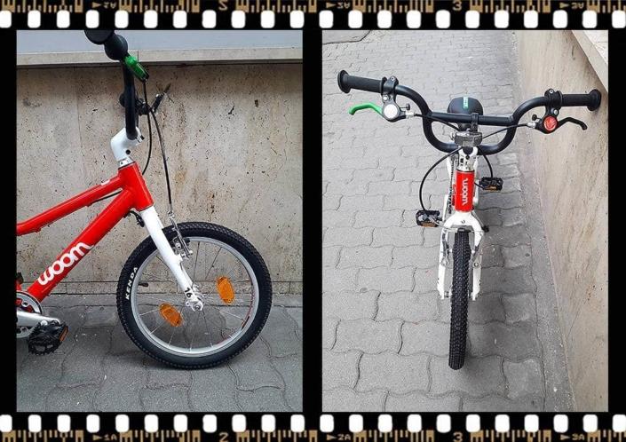 woom 3 piros 16-os alu vázas gyerek bicikli kormány