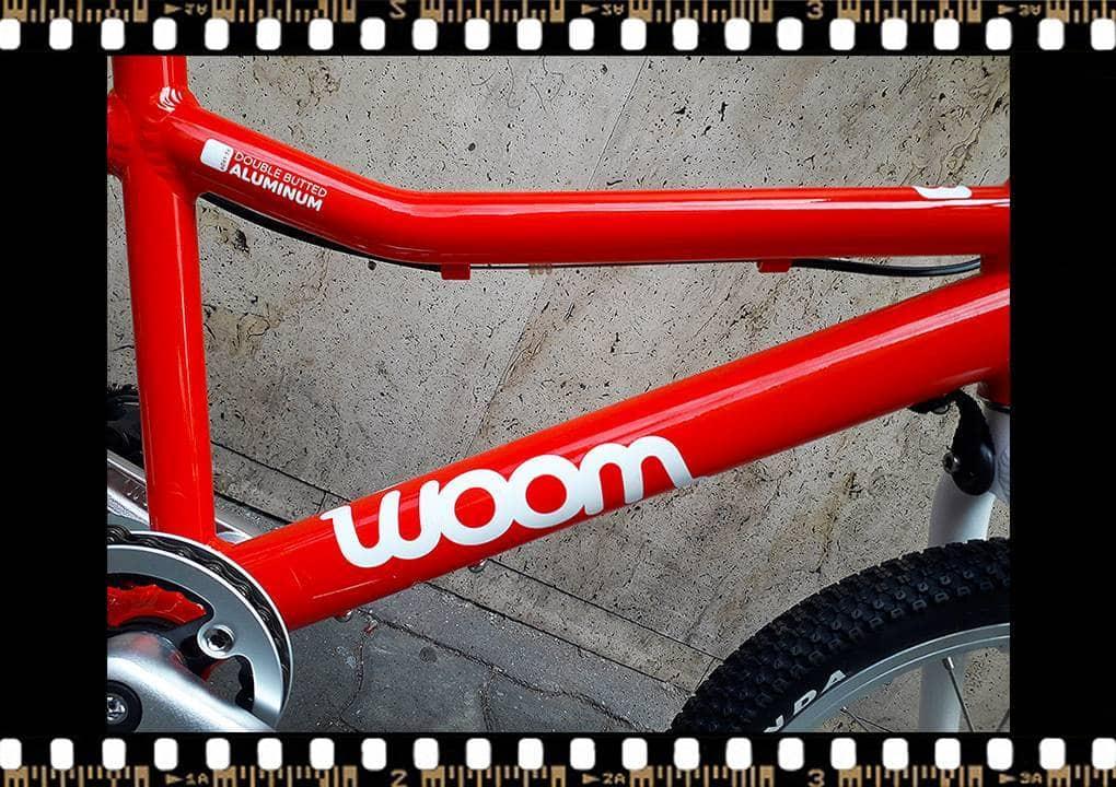 woom 3 piros 16-os alu vázas gyerek bicikli bringangyal