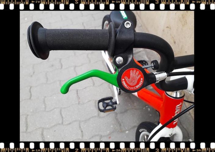 woom 3 piros 16-os alu vázas bicikli fékkar