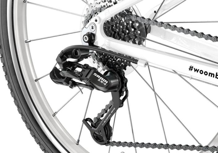 woom 20-as méretű alu vázas gyerek bicikli hátsó váltója