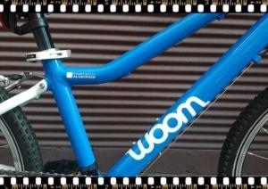 woom 4 kék alu. vázú bicikli bringangyal