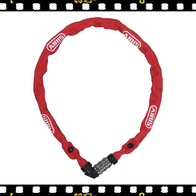 abus web lánc lakat piros számzáras 60 cm hosszú