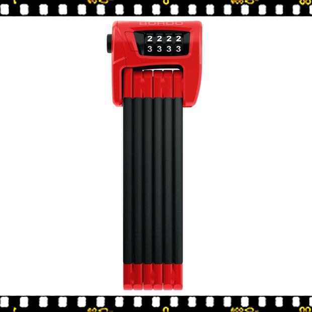 abus bordo combo 6100/90 cm-es kerékpár lakat piros számkódos
