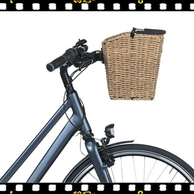basil bremen rattan look KF bicikli kosár a kerékpáron