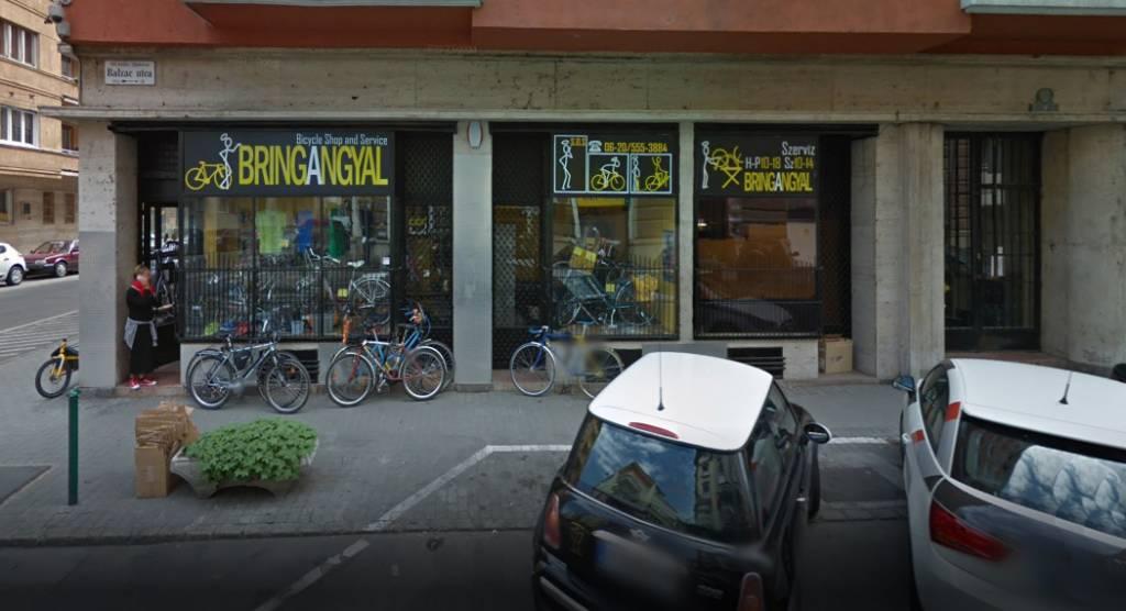 bringangyal kerékpárbolt a Balzac utca felől