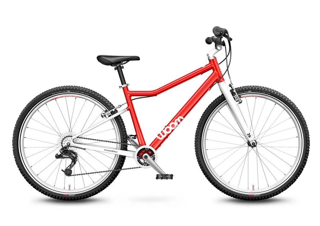 woom 26-os méretű aluminium gyerek bicikli piros