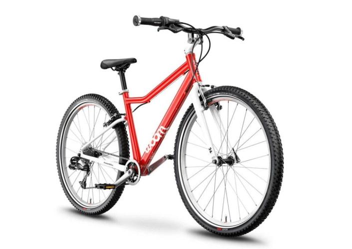 woom 26-os méretű aluminium gyerek bicikli piros elöl