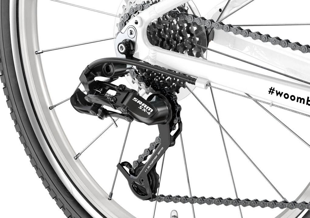 woom 26-os méretű aluminium gyerek bicikli hátsó váltó