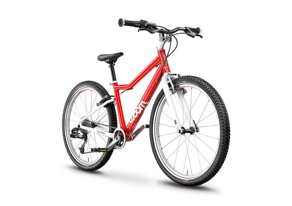 woom 5 piros 24-es gyerek bicikli előről