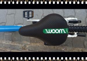woom3 16-os méretű kék gyerek bicikli nyereg