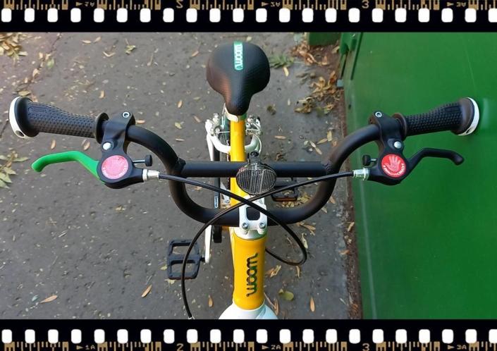 woom 3 sárga 16-os gyerek bicikli kormány