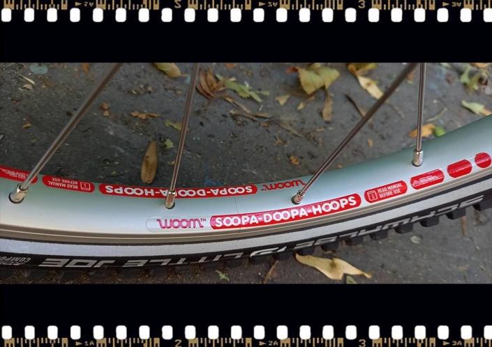 woom 3 sárga 16-os gyerek bicikli külső