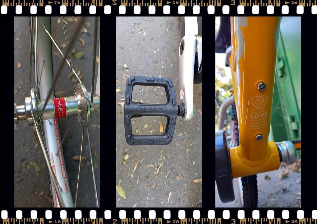 woom 3 sárga 16-os gyerek bicikli pedál