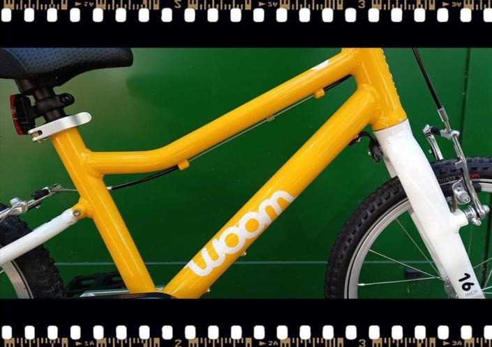 woom 3 sárga 16-os gyerek bicikli váz
