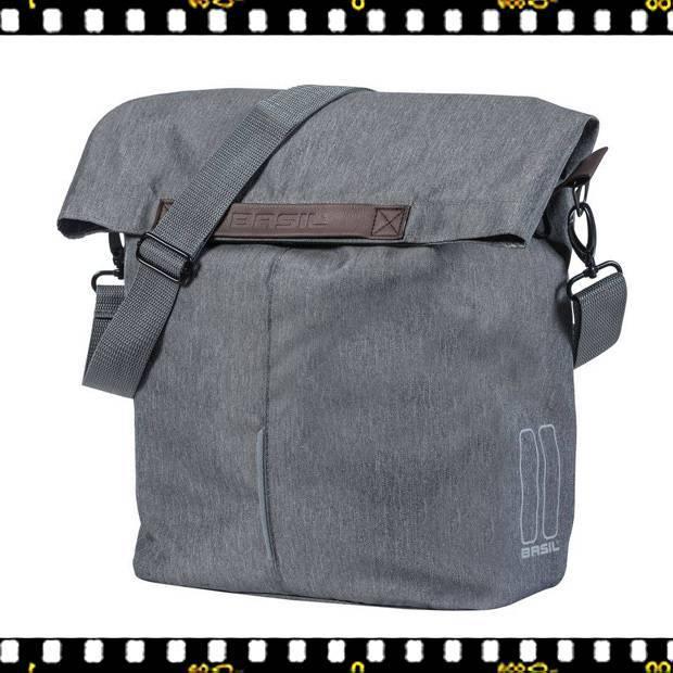 basil city shopper szürke biciklis táska