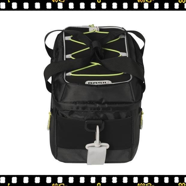 basil miles biciklis csomagtartó táska felülről