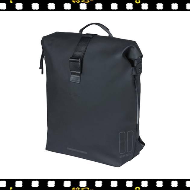 basil soho fekete biciklis hátizsák
