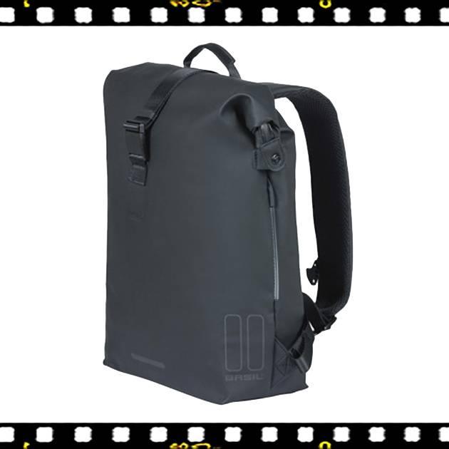 basil soho fekete biciklis hátizsák oldalról