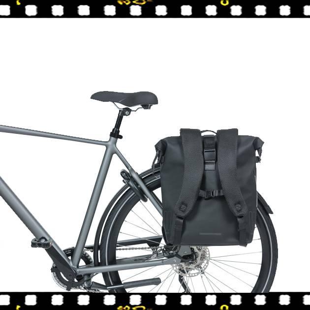 basil soho fekete biciklis hátizsák csomagtartón