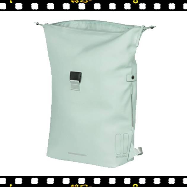 basil soho pasztel zöld biciklis hátizsák kinyitva