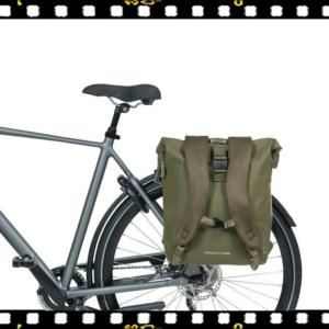 basil soho zöld biciklis hátizsák csomagtartón