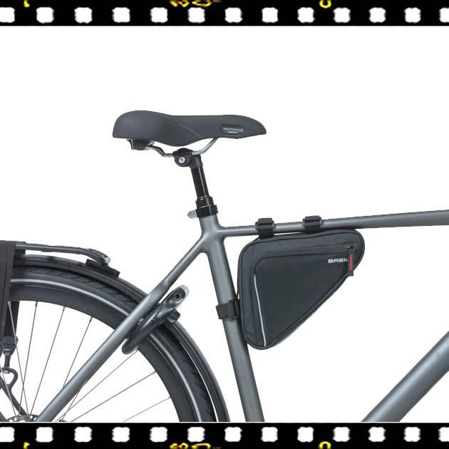 basil sport design triangle biciklis váztáska kerékpáron