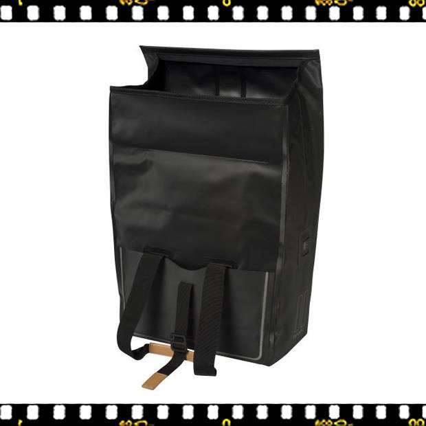 basil urban dry shopper kerékpáros táska szétnyitva