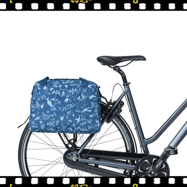 basil wanderlust carry all kék biciklis táska csomagtartón