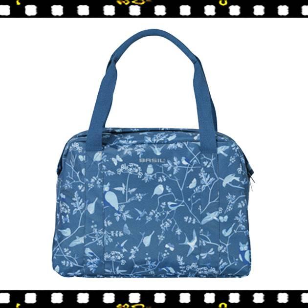 basil wanderlust carry all kék biciklis táska elöl