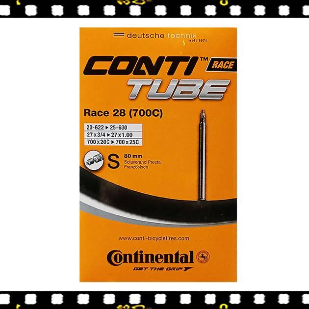 continental race 28 80mm hosszú presta szelepes bicikli belső