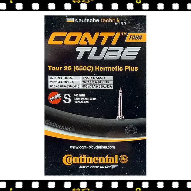 continental tour hermetic plus 26-os méretű 42 mm hosszú presta szelepes kerékpár belső
