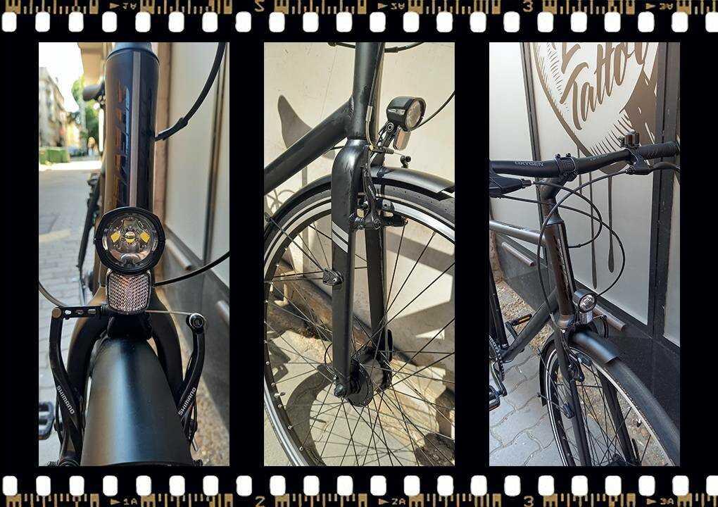 stevens city flight férfi városi kerékpár lámpával